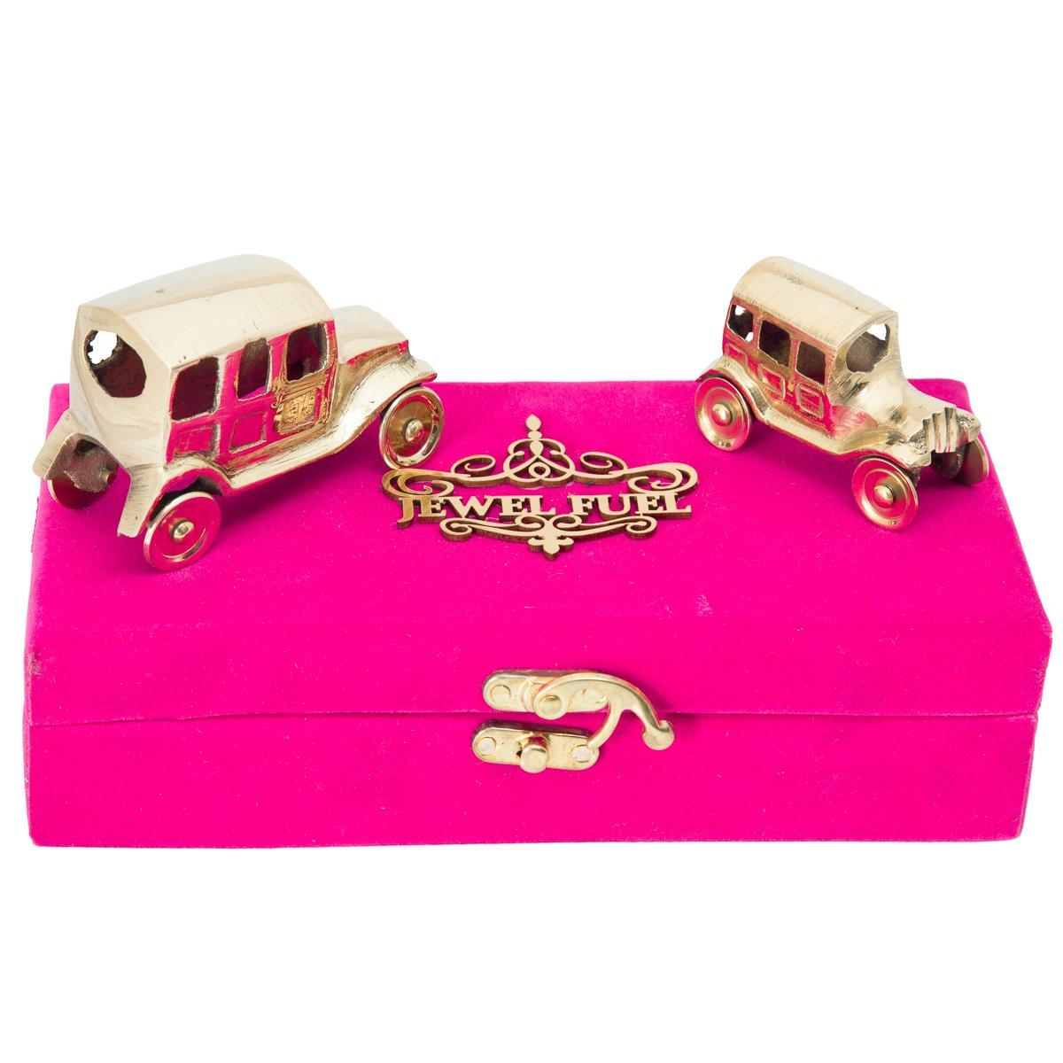 JEWEL FUEL Brass Antique 2 Vintage Car Showpiece Gift Set  45ad3ec4f2c24
